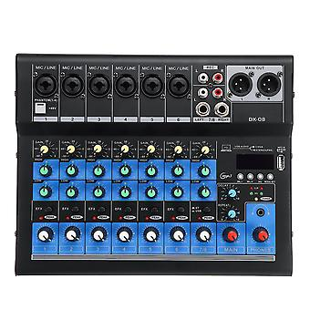 8 Channel 48V bluetooth Digital Microphone Sound Mixing Console Powerful Professional Karaoke Audio
