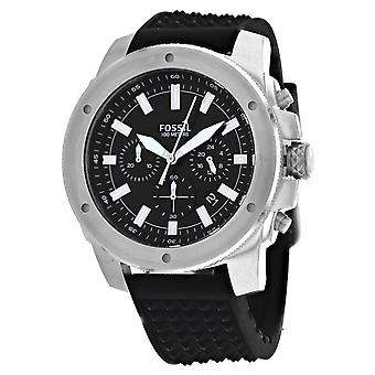 Fossil Men's Mega Machine Black Dial Watch - FS5715