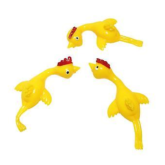 Brinquedo de frango de borracha estilingue 5 pacote
