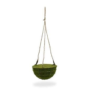 Panier suspendu artificiel de mousse 15 cm sur la corde