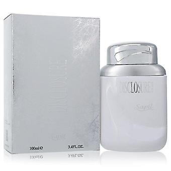 Sapil Disclosure Eau De Toilette Spray (White Box) By Sapil 3.4 oz Eau De Toilette Spray