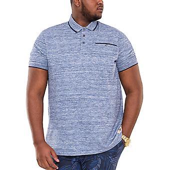 Duke D555 Mens Isaac Big Tall King Size Polo Shirt T-Shirt Tee Top - Blue