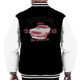 Ford Mustang 1969 The Boss Is In Men's Varsity Jacket