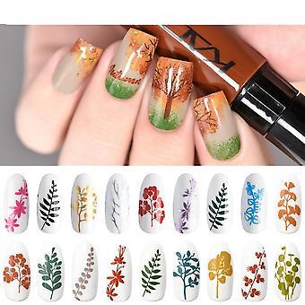 Set de esmalte de estampado de arte de uñas