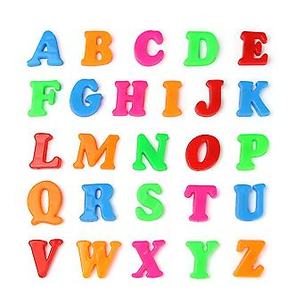 26pcs / set letras inglesas Alphabet Puzzle Colorido refrigerador pegatina educativa