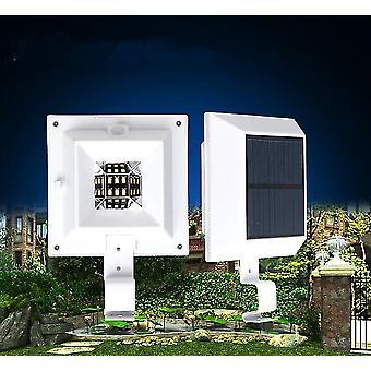 3 Led 太陽光発電屋外ランプライト ガターフェンス ガーデンヤード ホワイト/ブラック