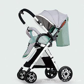 Light Baby Umbrella High Landscape Two Way Pram Four-wheel Stroller
