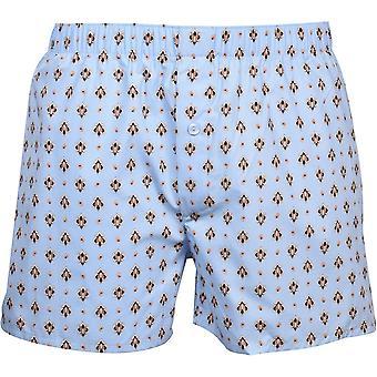 Hanro Fancy Woven Paisley Boxer Shorts, Sky Blue