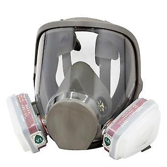 Groot uitzicht volledig gas en facepiece gasmasker schilderij spuiten siliconen masker