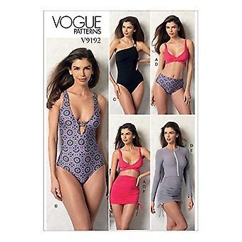Vogue Sewing Pattern 9192 se pierde el top swimsuit bottom Cover Up Size 14-22