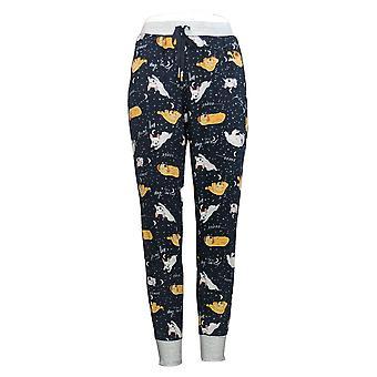 Cuddl Duds Pantaloni Petite Jogger Pajama Donna Blu A381784