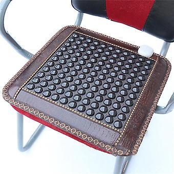 Nieuwe infrarood verwarming mat natuurlijke jade toermalijn massage kussen pijnverlichting rug taille verlichten spier gezondheidszorg stoel mat 220v