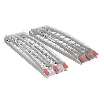 تحميل الألمنيوم Lr680 سياليي سلالم قدرة 680 كجم كل زوج