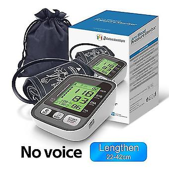 Upper arm blood presure meter monitor heart rate pulse sphygmomanometer rechargeable lcd automatic digital tensiometer