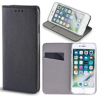 Samsung Galaxy A72 / A72 5G -Älykäs Magneetti Mobiililompakko Musta