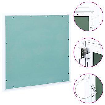 vidaXL volet de révision avec cadre en aluminium et plateau de plâtre 600x600 mm
