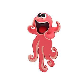 Djurbokmärken Kreativ tecknad bläckfisk