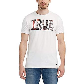 MUSTANG Photoprint Tee T-Shirt, Beige (Cloud Dancer 2020), Medium Men's