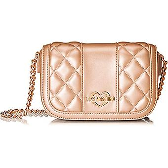 Love Moschino Bag Quilted Metall.nappa Pu - Women's Shoulder Bags, Rose (Copper), 6x12x17 cm (B x H T)