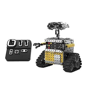 Remote Control Blocks Assembly Avoidance RC Robot Toy for Children Robot Toys|RC Robot(Silver)