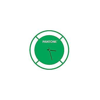 PANTONE Klocka Enhet Färg Grön, Vit, Metall L40xP0.15xA40 cm
