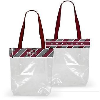 Mississippi statliga Bulldogs NCAA clear fashion stadium tote väska