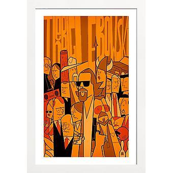 JUNIQE Print - Koleś - Plakat filmowy w kolorze żółtym & pomarańczowym