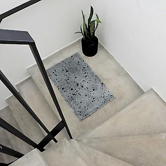 Betsy Speckled Washable Floor Mats In Grey