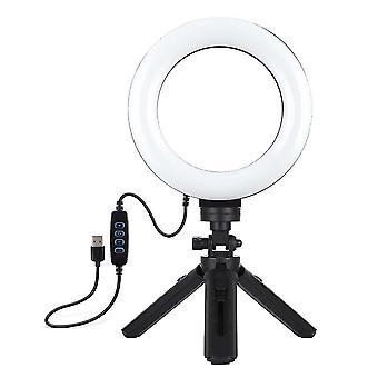 Puluz pkt3059b 6.2 polegada 6500k-3200k led ring light for tik tok youtube live streaming vlogging selfie 3 modos dimmable lamp com tripé dt835 16.5cm
