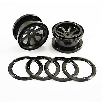 Fastrax Axial 8 Spoke 2.2 Alloy Beadlock Wheels (Wraith)