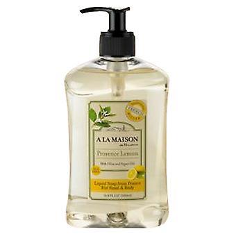 A La Maison Liquid Soap Provence Lemon, 16.9 Oz