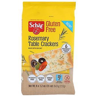 Schar Cracker Rosemary Table, Case of 1 X 7.4 Oz