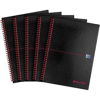 "FengChun Oxford "" n' Red-Notizbuch, A4, Hardcover, Draht-gebunden 5er-Pack A4"