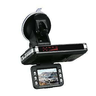 Anti radar detector car dvr 2 in 1 720p dash cam speed with full band mute button loop recording