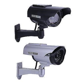 innendørs utendørs solenergi dummy falsk imitasjon hjem cctv sikkerhet kamera