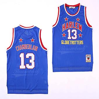 Hommes Wilt Chamberlain #13 Harlem Globetrotters Basketball Jersey Stitched High School Jersey Sports T-shirt Taille S-xxl