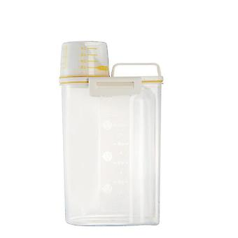 2.5L Food Storage Container Dispenser Sealed Box Dry Feed Seed Food Storage Rice Container Kitchen