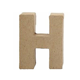 ÚLTIMOS POCOS - 10cm Papel Pequeño Mache Carta H | Formas de Papel Maché