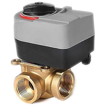 Plumbing valves quality 220v electric t valve with three way