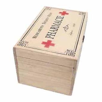 Himlen sänder Vintage trä apotekare låda