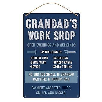 Something Different Grandad´s Work Shop Metal Door Sign