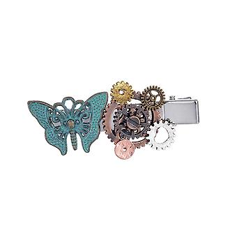 3PCS  Steampunk Gear Butterfly Women's Hair Clip Goth Punk Vintage Hair Accessories Jewelry for