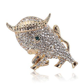 Retro Brosche Pin Kalb Corsage Diamant eingelegte Legierung Frauen Brosche
