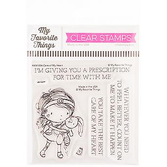 """My Favorite Things Clear Stamps 4""""X4"""" - Care Of My Heart"""