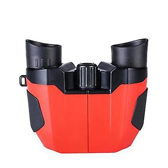 Jumelles pour adultes et enfants, jumelles compactes 10x22, grand oculaire 22mm BAK4 Prism FMC Lens, pour les voyages, la chasse, les concerts et les jeux de sport, (rouge)