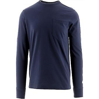 MA.STRUM Navy Long Sleeve Print T-Shirt