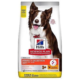 Hills perfekta matsmältning vuxna medium ras hundar kyckling & ris