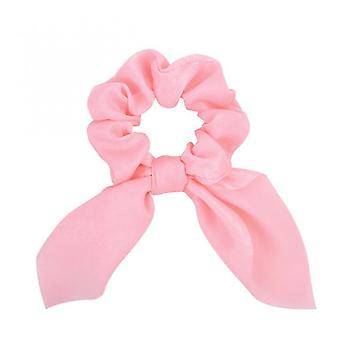 2pcs New Chiffon Bowknot Elastic Hair Bands For Women Girls Solid Color Scrunchies Headband Hair Ties Ponytail Holder Hair Accessorie