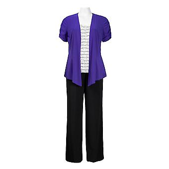Top With Attached Ruched Jacket Jersey Pants Set