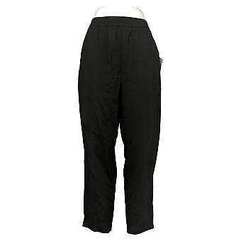 WynneLayers Women's Pants Cotton Knit Pull-On Seamed Ankle Black 741392